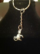 Keyring with monkey charm silver plated