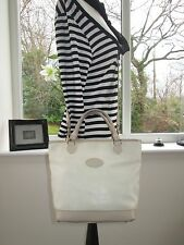 AUTHENTIC MULBERRY CREAM SCOTCHGRAIN & LEATHER HELLIER SHOULDER BAG