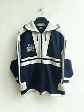 1990 90s Vintage KAPPA Hip Hop Big Logo Zippered Training Hoodie Jacket Size L/M