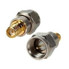 Alloy F Type Male Plug To SMA Female Jack RF Coaxial Adapter Connector convertor