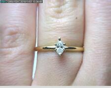 14K Gold .25CT I2-K Marquise Diamond Solitaire Ring (B7812) LPJ 530283