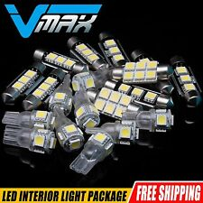 7 pieces White LED bulbs Interior Package Kit for Ford Focus 2001-2013
