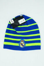 Real Madrid FC Soccer Football NEW BEANIE Cap Knit Hat Blue Neon