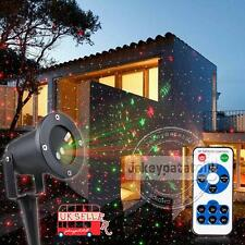 UK Outdoor Xmas Light Sky Star Laser Spotlight Shower Christmas Garden Lights