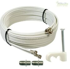 5m SKY+ or HD twin shotgun Satellite cable White NEW ! TV Satellite coax cable