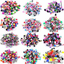 105 Pcs Wholesale Body Jewelry Eyebrow Navel Belly Tongue Nose Piercing Bar Ring