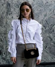 *Sold Out!* H&M TREND Premium White Frill Zip Blouse 10 36 6 Bloggers!