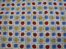"Springs Industries Cotton Fabric - Lady Bugs & SunFlowers - 3 yards x 45"" Wide"
