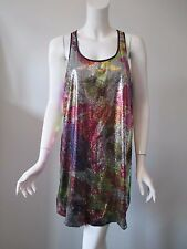 Betsey Johnson Collection Sequin Scoop Neck Tunic Tank Mini Dress L