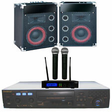Home Karaoke Machine System RSQ Player Speakers Mics + 3100 MP3+G Music SALE NEW