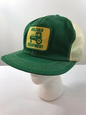 Vintage Green White Yellow Bolivar Equipment Tractor Patch Snap Back Trucker Hat