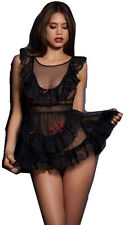 AGENT PROVOCATEUR Black Lucienne Pinafore Baby Doll BNWT