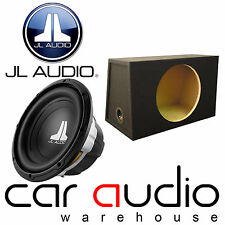 JL Audio 12w0v3-4 12 Inch 30cm 300 Watts 4 ohm Car Sub Subwoofer + Bass Box