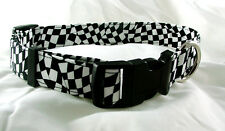 Wave the Checkered Flag NASCAR Style Dog Collar Size Small
