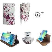 Smartphone Hülle - TrekStor WinPhone 4.7 HD - Tasche 360° S Blume Schmetterling