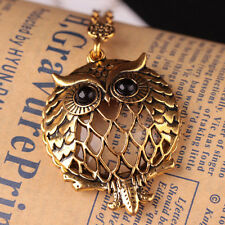Retro Style Magnifying Glass Owl Shaped Long Chain Sweater Pendant Necklace Sale