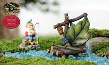 Fairy Garden River Raft of Logs & Leaves - Woodland Collection Miniature Statue