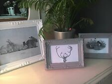 5 Vintage Shabby Chic Picture / Photo Frames - Wedding Animal Ornate Deer Owl