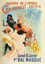 A4 photo CHERET Jules les affiches illustrees 1896 CARNAVAL 1894 imprimé Poster