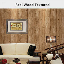Realistic Wood Textured Nature Timber Plank Wood Panel Stripe Wallpaper