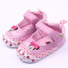 Toddler Baby Boys Girls Crib Minnie Mouse Shoes Kids Sandals Newborn UK 0-18 M