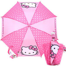 Sanrio Hello Kitty Retractable Umbrella Pink Polka Dots