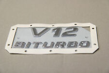 New Genuine MERCEDES SL R231 AMG V12 Biturbo fender emblem decal
