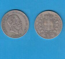 Italie Vittorio  Emanuele  II (1861-1878)  5 Lire  argent  1865 Torino