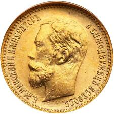 TWO COINS 1902 5R RUSSIA GOLD IN NGC MS66 WINGS YOU GET 2 COINS BUY GOLD COIN