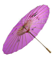 Japanese Chinese Umbrella Art Deco Painted Parasol For Wedding Dance Party