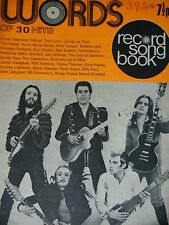 WORDS RECORD SONG BOOK MAGAZINE -1/6/73 - ROXY MUSIC - LED ZEPPELIN
