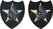 """Pair of 2nd Infantry Division """"Indian Head"""" and Indian Skull Head"""" patches 2ID"""