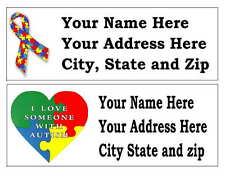 120 AUTISM AWARENESS RETURN ADDRESS LABELS MANY CHOICES
