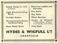 1953 Hydes Wigfull Sheffield Blacksmithing Ad
