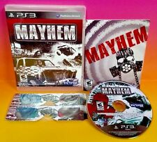 Mayhem PS3 Sony Playstation 3 COMPLETE - 120 Vehicles 2 pairs of NEW 3D Glasses