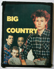 BIG COUNTRY Original Vintage 1980`s Sew On Photo Card Patch not shirt lp cd pin