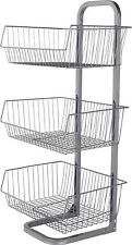 3 Tier Vegetable Stand Metal Fruit Basket Kitchen Food Storage Baskets Rack New