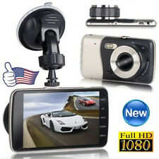 "4"" IPS HD 1080P Car Dual Lens Camera DVR Video Recorder Rear Dash Cam G-sensor"