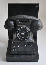 Old Phone Bookend Rotary Dial Telephone Vintage Style Antique Home Decor Book