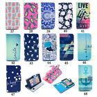 Designer Flip Leather Wallet Case Rubber Skin Folio Stand Cover for Smartphones