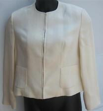 $1365 Fall Winter GIORGIO ARMANI Italy Ivory Cream Blazer Jacket Sz 46 , 12