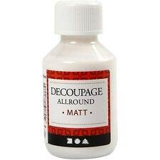 Decoupage Lacquer Matt 100ml - Glue Varnish - Craft Wood Card Decorate Decopatch