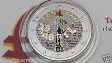 2 euro 2014 PORTOGALLO color farbe kleur Portugal 40 anni Garofani 25 abril 1974