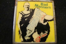 OLD RARE SET EIGHTIES VINTAGE RETRO MUSIC POP BAD MANNERS BUSTER B BUTTON BADGE