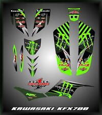 KAWASAKI KFX700 700 SEMI CUSTOM GRAPHICS KIT GREEN