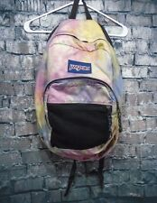 Jansport Trans Bookbag Backpack Multi-Colored Tie Dye Pink Purple Orange Yellow