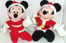 Disney Mickey Minnie Mouse Plush Santa Suit Rattle Christmas Baby Toy Stuffed