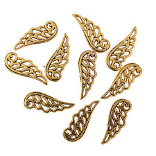 10pcs Filigree angel wings gold plated Bead charms Pendants fit bracelet