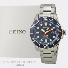 Authentic Seiko Padi Solar Prospex Blue Dial 200M Watch SNE435