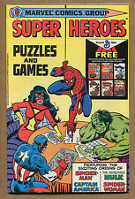 Super Heroes - Puzzles & Games - General Mills Giveaway - 1979 (Grade 9.2)WH